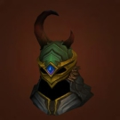 Crafted Malevolent Gladiator's Wyrmhide Helm Model