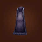 Dark Leather Cloak, Pulled Wool Model