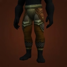Hammerfoot's Plate Leggings, Plainstrider Leg Armor, Woven Plate Leggings, Oil-Stained Leggings, Restored Mennaran Plate, Togrik's Legguards, Ironband Legguards, Redridge Legguards Model
