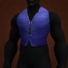 Blue Linen Vest Model