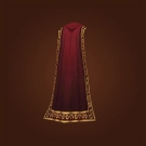 Crimson Silk Cloak, Imposing Cape Model