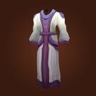 White Linen Robe Model
