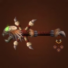 Carved Witch Doctor's Stick Model