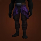 Stretchy Purple Pants, Warmage's Legwraps, Sootfur Legwraps Model