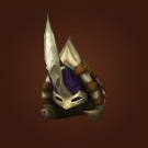 Snowserpent Mail Helm, Sanctified Ahn'Kahar Blood Hunter's Headpiece Model