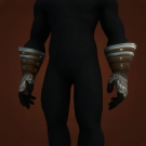 Silvered Bronze Gauntlets Model