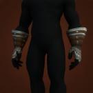 Silvered Bronze Gauntlets Model