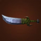 Stoneblade Slicer, Sword of the Caged Mind, Primitive Scimitar, Shadowstalking Sword Model