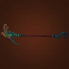 Inscribed Crane Staff Model