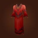Red Linen Robe Model