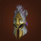 Glaciated Helm, Reinforced Sapphirium Headguard Model