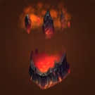 Erupting Volcanic Faceguard Model