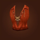 Crimson Silk Vest Model
