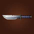 Broad Bladed Knife, Razor Blade, Lionhead Dagger Model