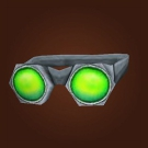 Green Tinted Goggles Model