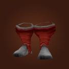 Red Woolen Boots Model