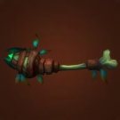Ruhkmari Wand, Glowing Morel, Rune-Etched Femur Model