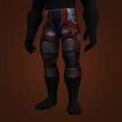 Garmaul Legguards, Blood-Stained Chain Leggings, Appointed Scalemail Leggings, Dusk-Linked Leggings, Skom Leggings, Cauterizing Chain Leggings, Rusty Mesh Leggings, Seaspeaker Legguards, Orca Legwraps, Trapper Leggings, Legguards of Unerring Navigation, Legguards of Swift Pursuit, Labyrinthine Legguards, Geist Stalker Leggings, Leggings of the Turning Point Model