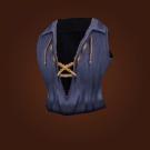 Black Silk Vest Model