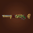 Polished Gun, Bronzed Gun, Jade Rifle Model