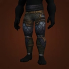 Hornblower's Legguards, Leggings of Fiery Travail, Rust-Scrivened Leggings Model