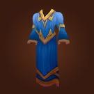 Blue Linen Robe Model