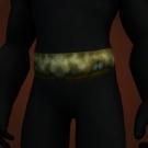 Pagan Belt, Greenweave Sash, Beaded Raptor Collar Model
