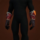 Don Tayo's Inferno Mittens Model