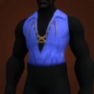 Azure Silk Vest Model