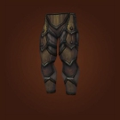 Wasteland Hide Legguards, Wasteland Leather Legguards Model