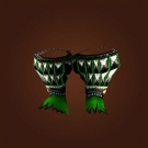 Keeper's Hooves, Jadefire Sabatons, Studded Green Anklewraps Model