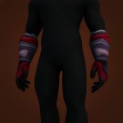 Muddied Crimson Gloves Model