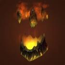 Erupting Volcanic Helmet Model