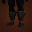 Mushan Hide Footguards, Silentleaf Boots, Kafa Hide Footguards, Kafa Leather Boots Model
