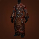 Tyrannical Gladiator's Satin Robe, Tyrannical Gladiator's Mooncloth Robe Model