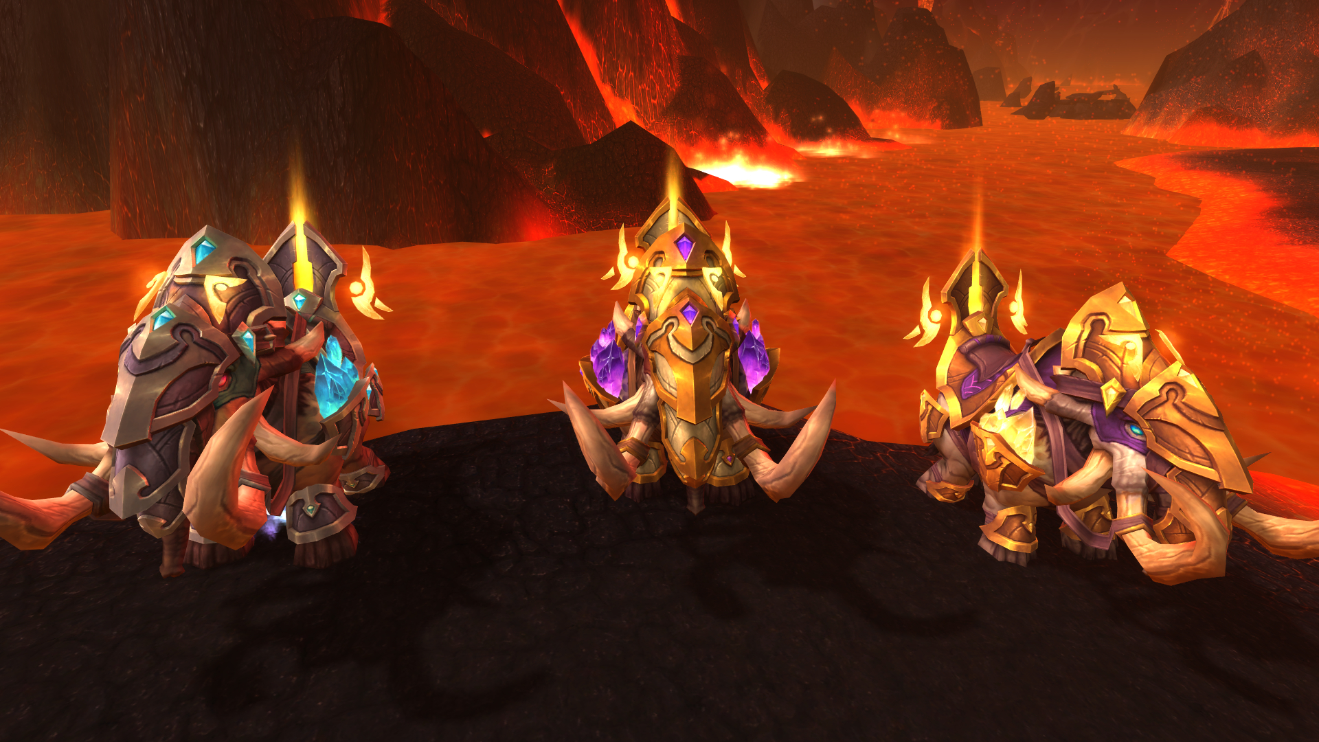 Army of the Light Elekk Mounts