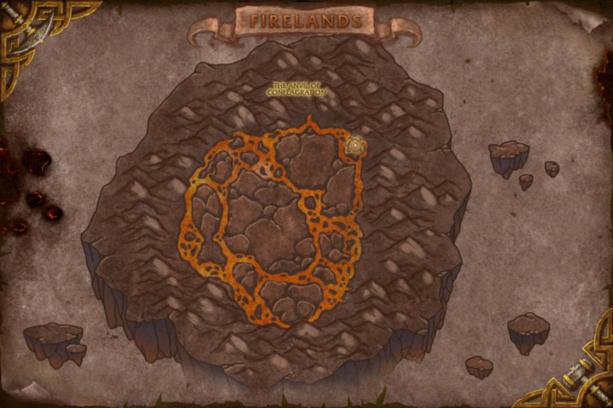 Firelands Map - Anvil of Conflagration