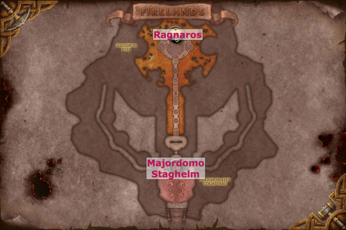 Firelands Map - Sulfuron Keep