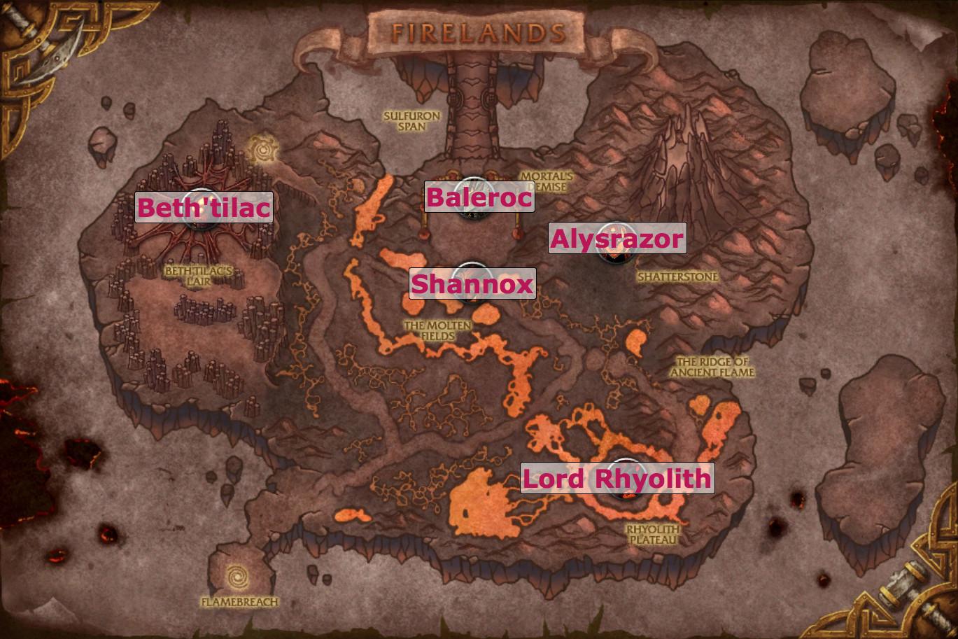 Dragon Soul Raid Location: Firelands Raid Guides For World Of Warcraft: Strategies