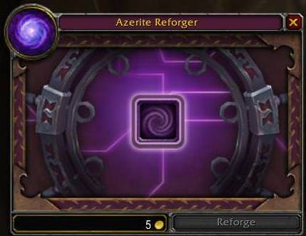 Azerite Armour Reforging Screen