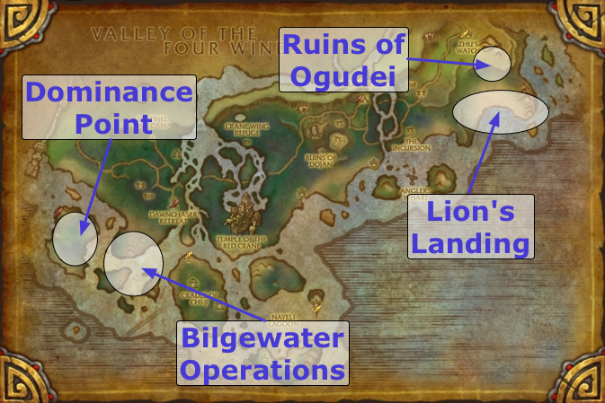 Dominance Offensive - Daily Quest Locations