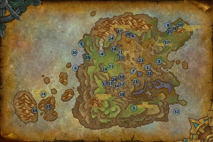 Mechagon Rare Elites Location