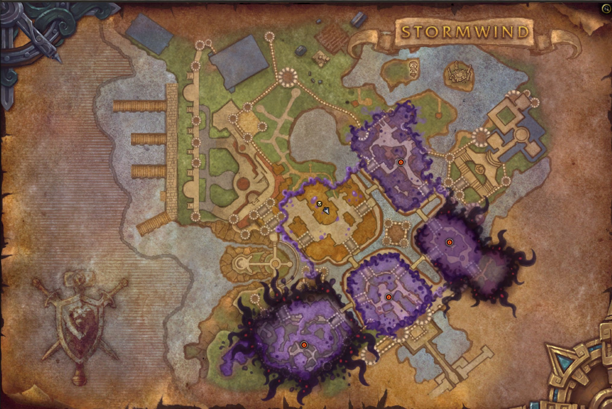 Horrific Vision of Stormwind Map
