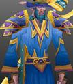 Blue Linen Robe