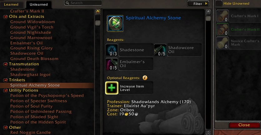 Alchemy Leveling And Gold Making Guide For Shadowlands World Of Warcraft Icy Veins