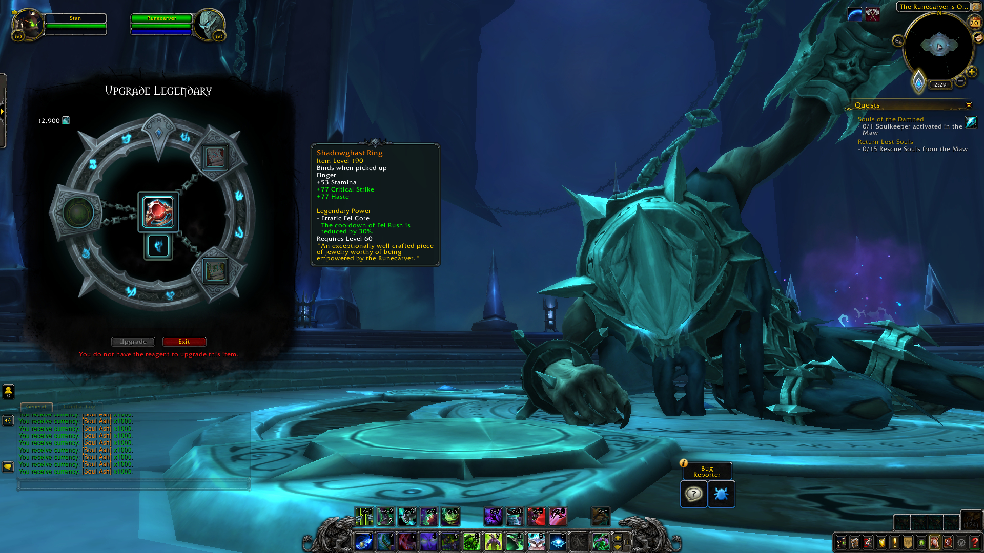 How To Craft Legendary Items In Shadowlands A Runecarving Guide World Of Warcraft Icy Veins