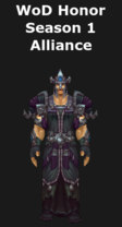 Warlords of Draenor Season 1 Honor Alliance Cloth Set