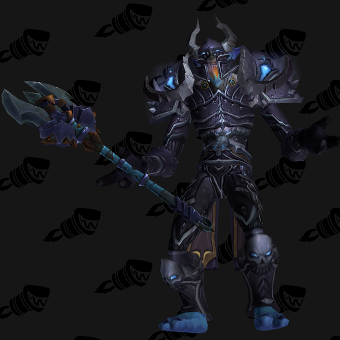 Death Knight Transmog Conqueror's Darkruned Plate PvE Tier 8.5 Male Set