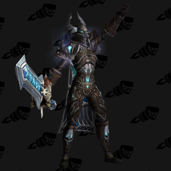 Death Knight Transmog Valorous Darkruned Plate PvE Tier 8 Female Set