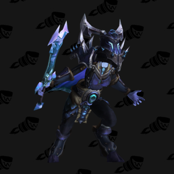 Death Knight PvE Arena Warlords Season 1 Blue Alliance Female Set